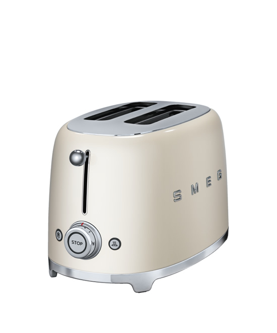 smeg toaster 2 slice cream 1 kitchen spain. Black Bedroom Furniture Sets. Home Design Ideas