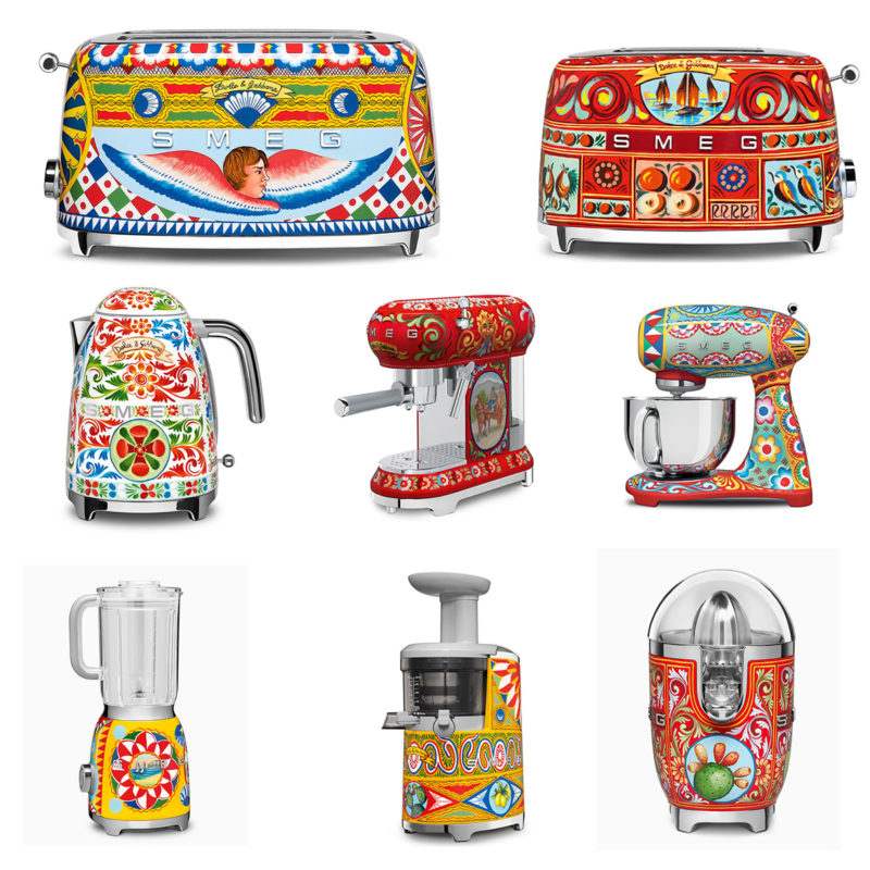 Smeg Mix Kitchen Appliances by Dolce & Gabbana