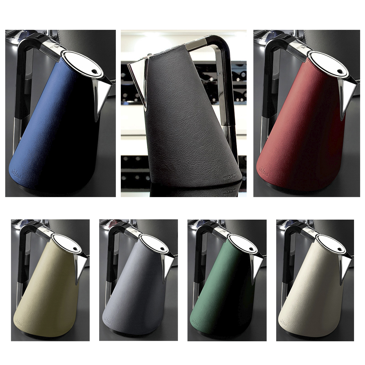 Bugatti Kettle with leather in different colours