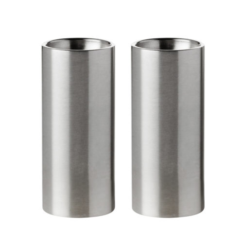 Stelton - Cylinda Salt & Pepper Set Stainless Steel 1