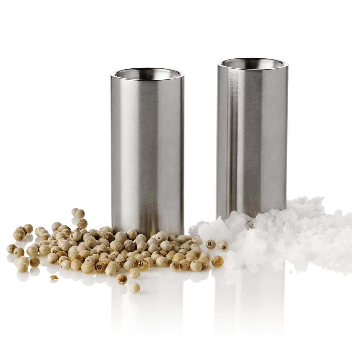 stelton spices more salt pepper shaker cylinda salt pepper set. Black Bedroom Furniture Sets. Home Design Ideas