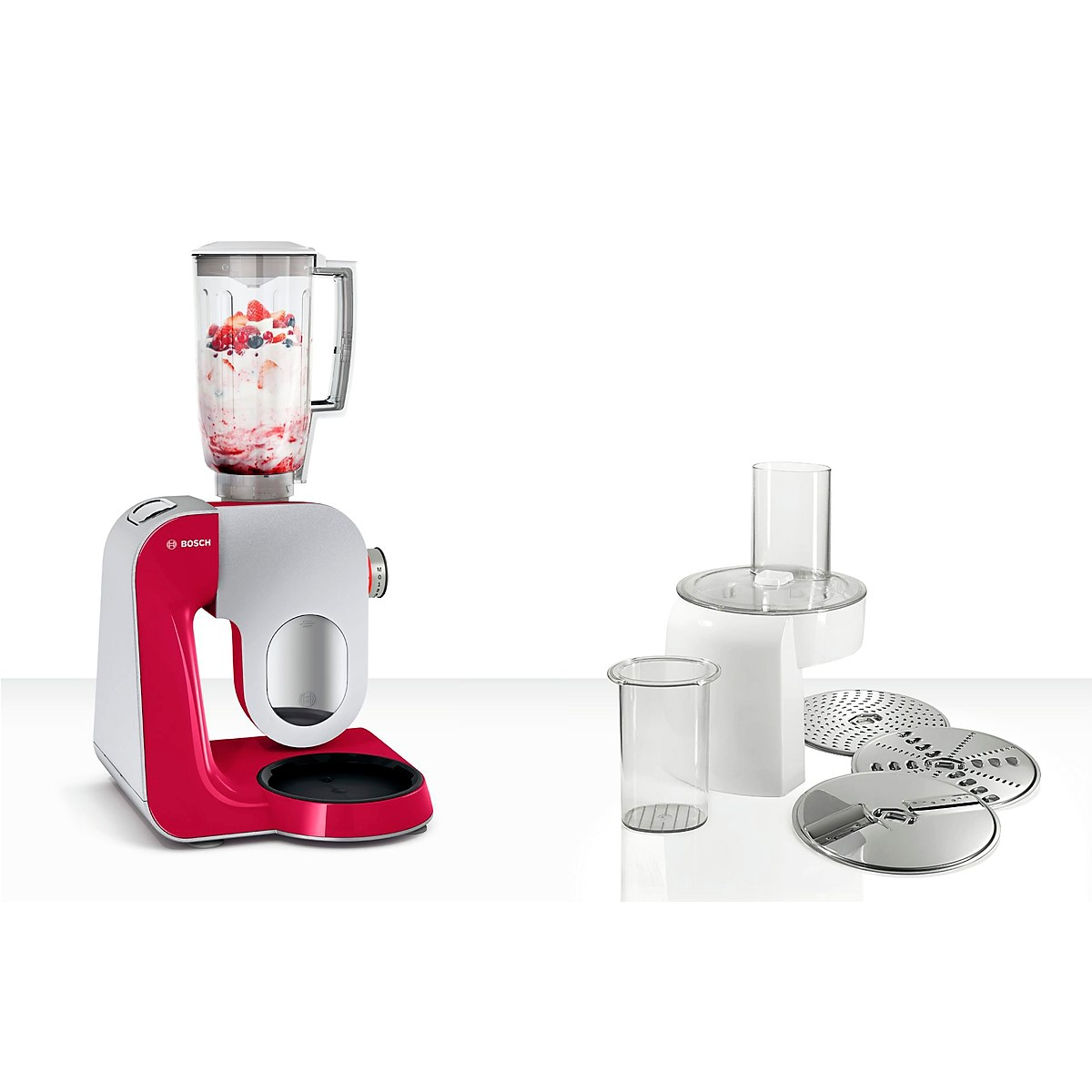 Bosch - Kitchen Machine MUM5 Styline Colour red diamond silver 2