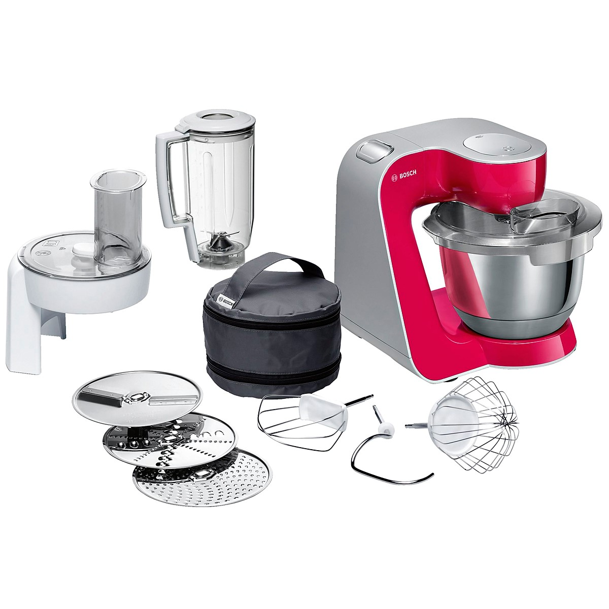 Bosch - Kitchen Machine MUM5 Styline Colour red diamond silver 4