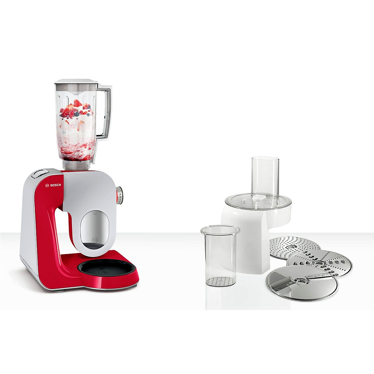 Bosch - Kitchen Machine MUM5 Styline Colour red silver 2