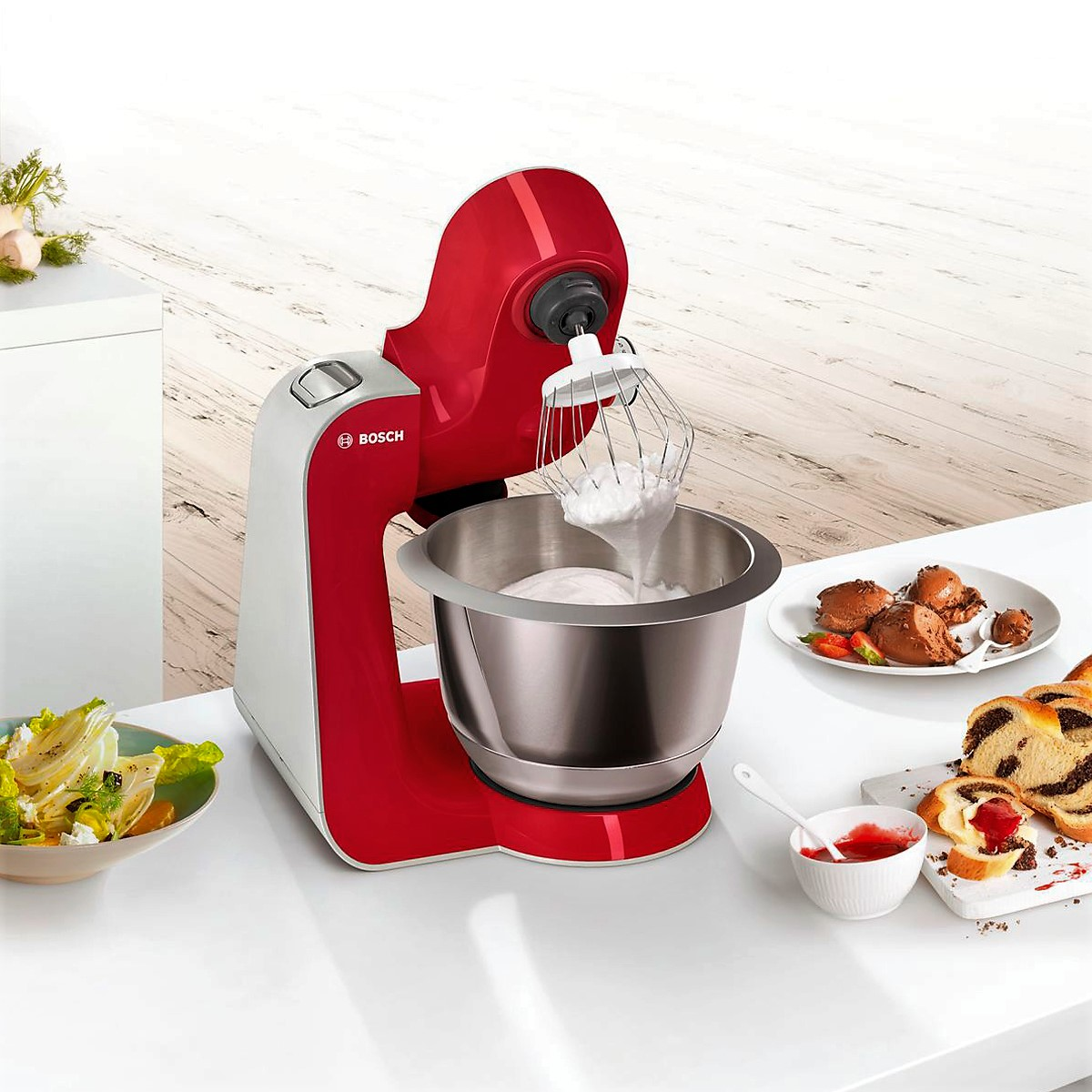 Bosch - Kitchen Machine MUM5 Styline Colour red silver 3