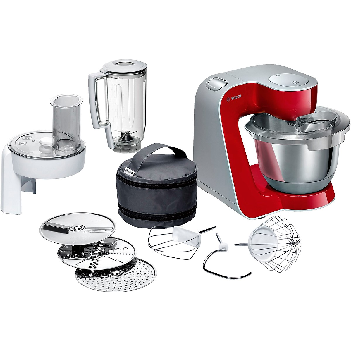 Bosch - Kitchen Machine MUM5 Styline Colour red silver 4