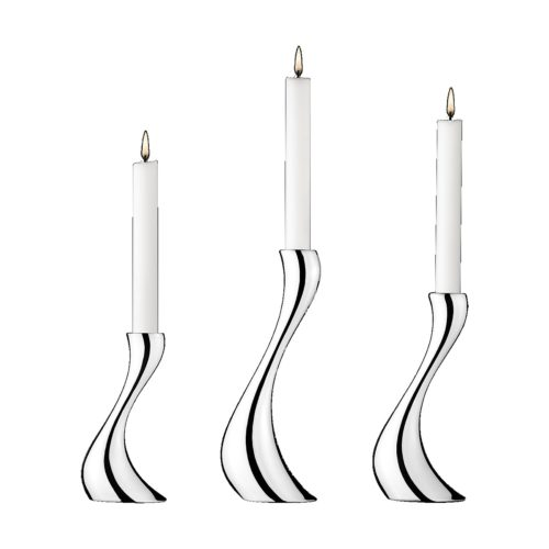 Georg Jensen - Cobra Candle Holder Set + Candles (3 pcs) 1