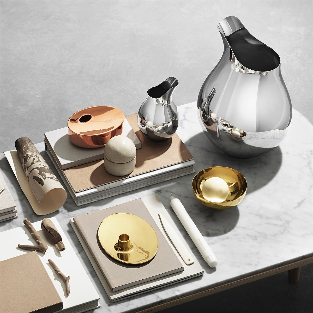 Georg Jensen - Ilse Vases, Candle holder and bowls 2