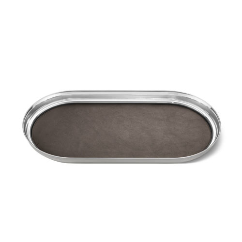 Georg Jensen - Manhattan Tray Stainless Steel and Leather 1
