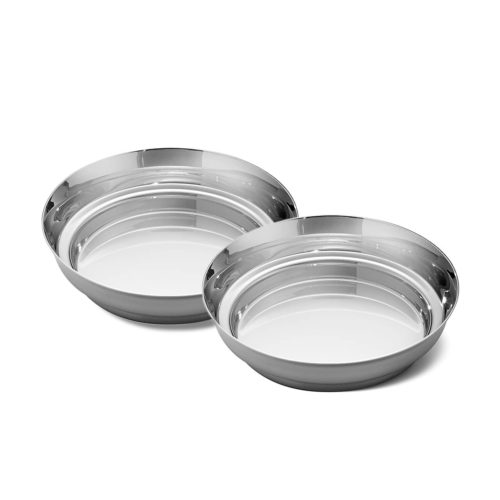 Georg Jensen - Manhattan Wine Glass Coasters Stainless Steel (2 pcs) 1