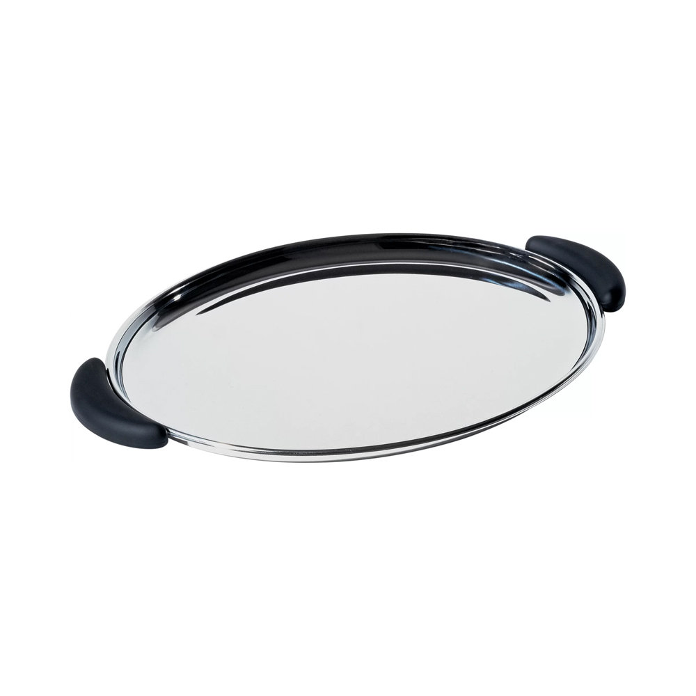 Officina Alessi - Bombé Oval Tray Stainless Steel 2