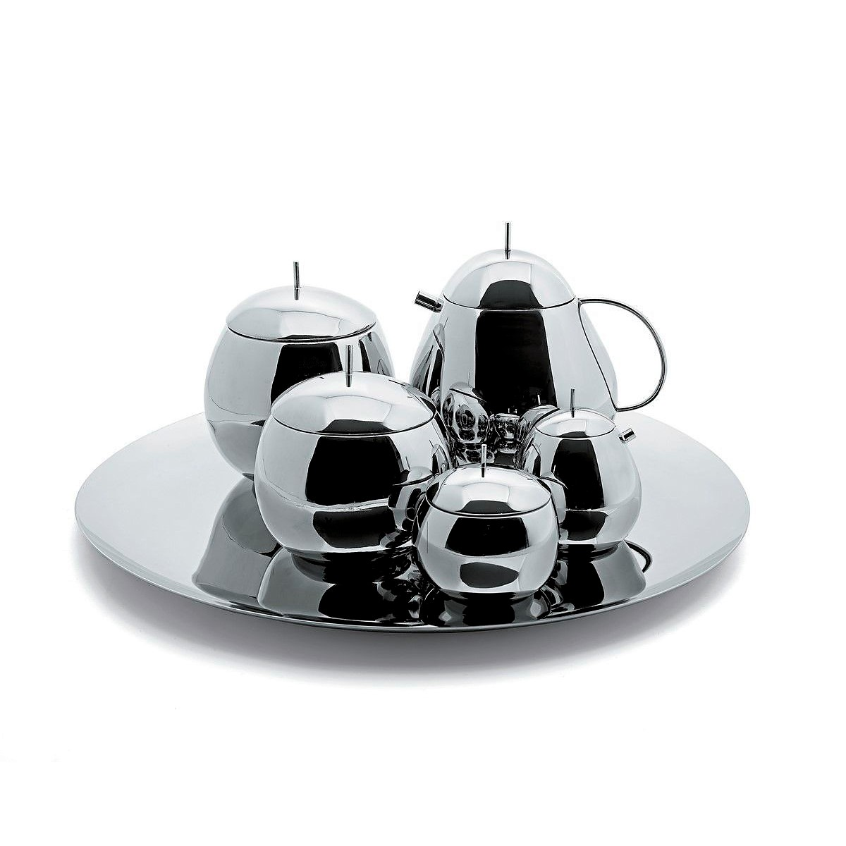 Officina Alessi - Sanaa Fruit Teapot, Sanna Fruit Set sugar bowl and creamer, sanna fruit creamer sanna fruit kitchen box and sanna fruit round tray