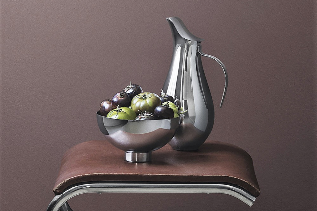 KitchenSpain Ilse collection Bowl and pitcher in stainless steel