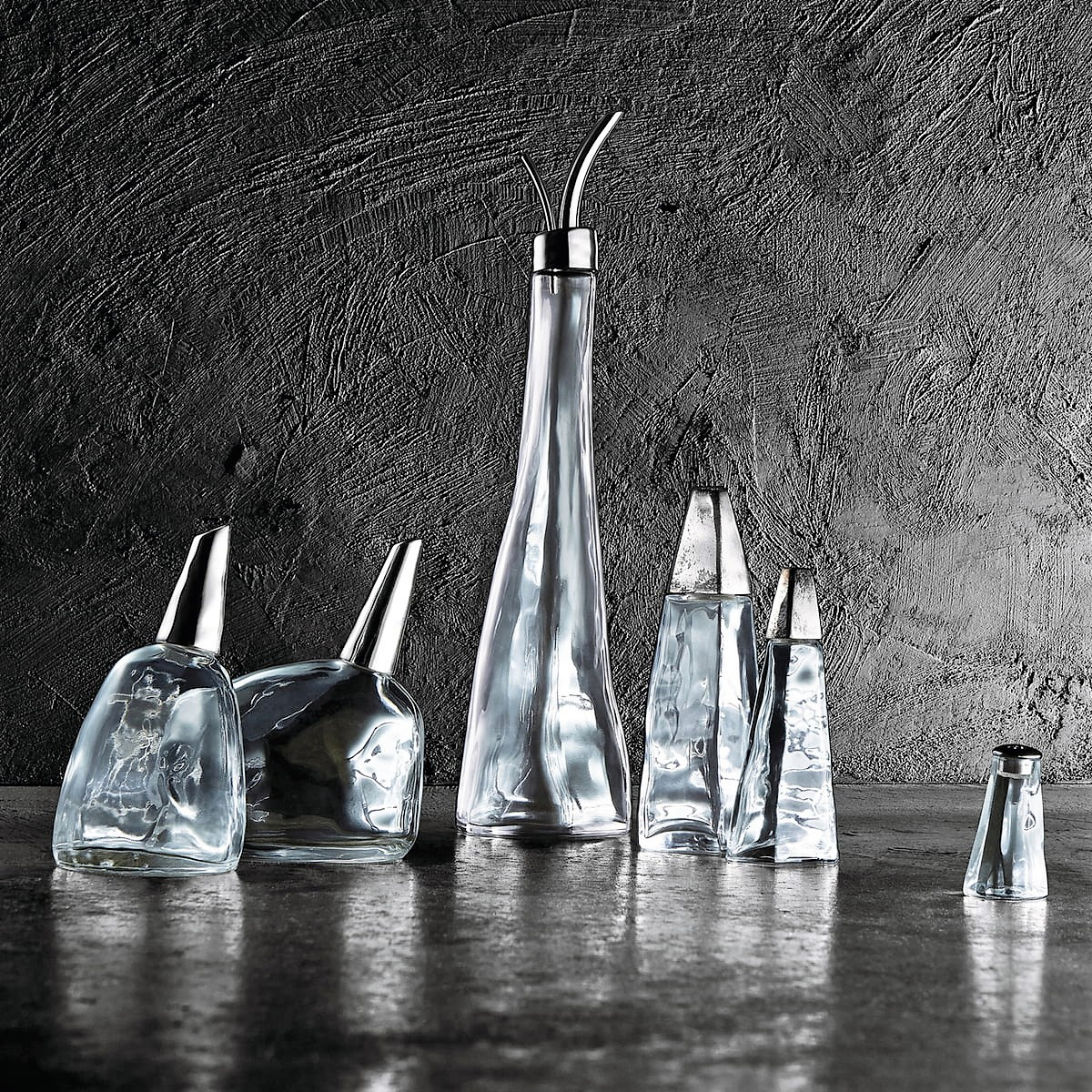 Alessi Peter Zumthor Collection Oil Vinegar Sugar Salt Spices and pepper Castor