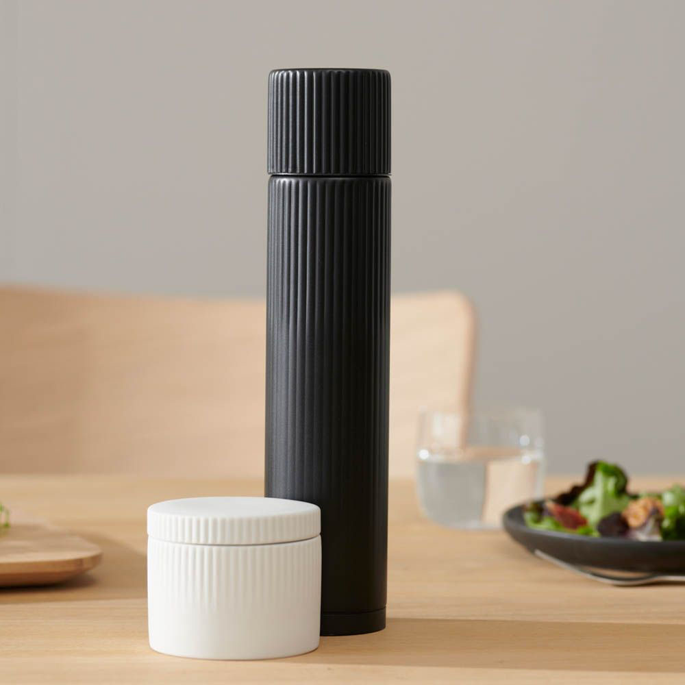 Stelton - Classic Pleat pepper mill - Classic Pleat salt jar