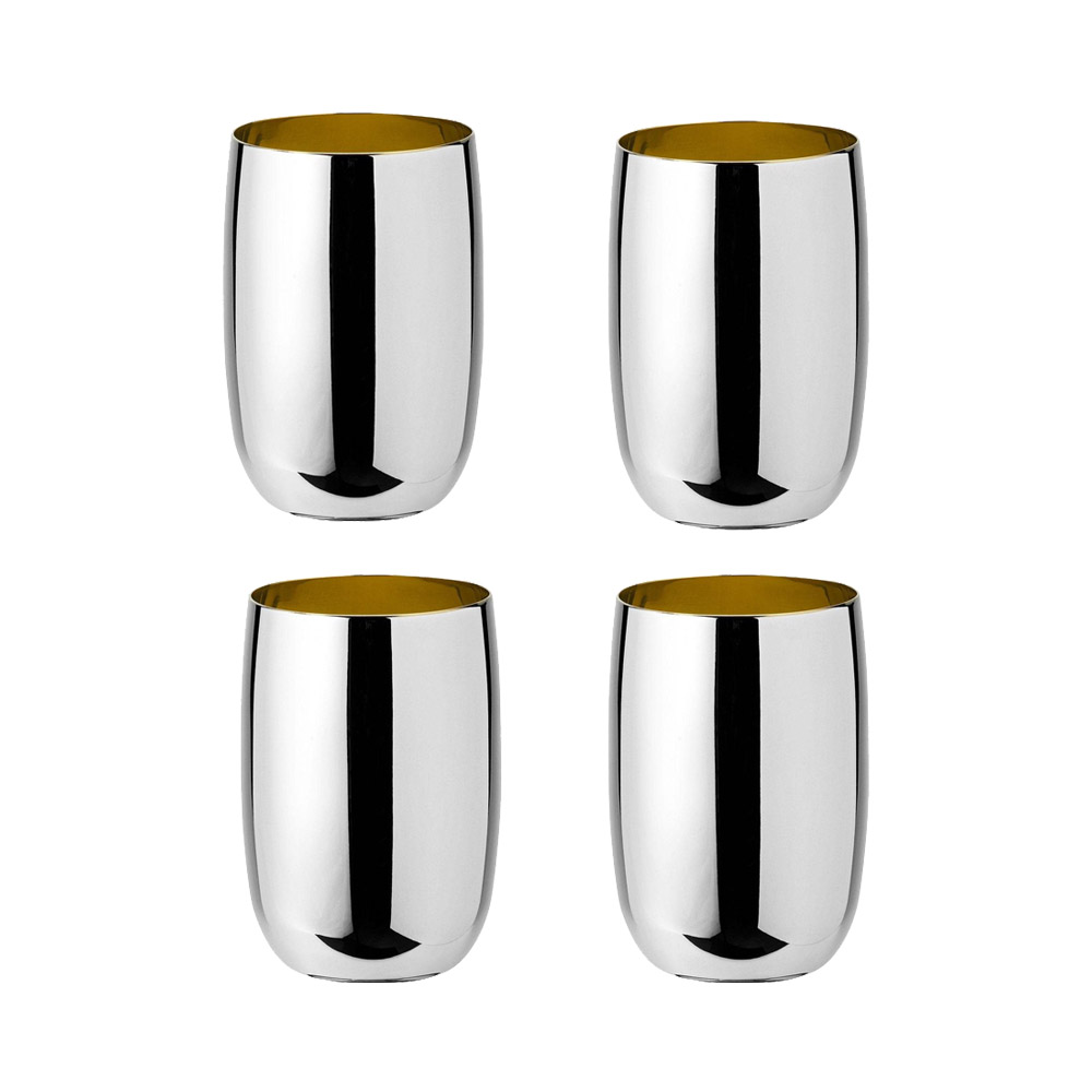 Stelton - Foster water glass steel golden (4 pcs)